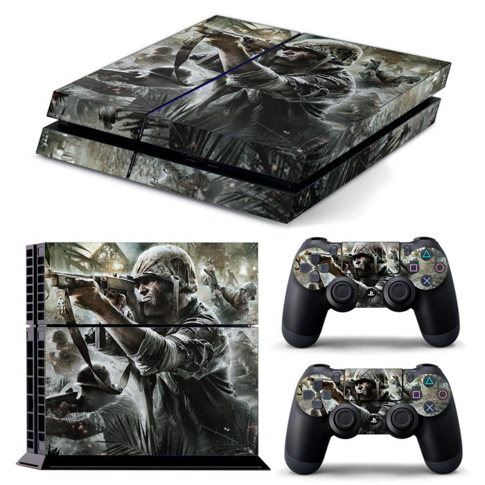 PS4 FULL BODY Accessory Wrap Sticker Skin Cover Decal for PS4 Playstation 4, ***Soldier***
