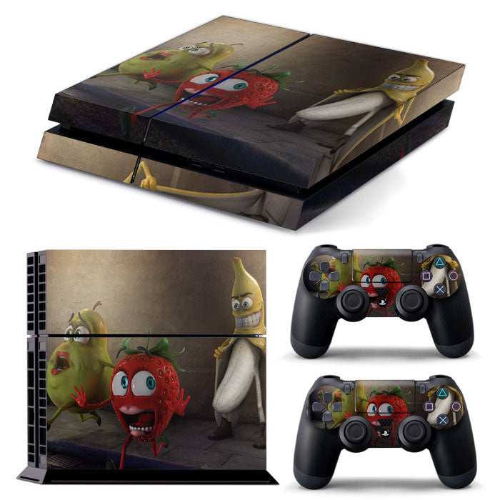 PS4 FULL BODY Accessory Wrap Sticker Skin Cover Decal for PS4 Playstation 4, ***Banana***