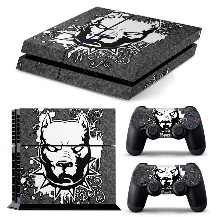 PS4 FULL BODY Accessory Wrap Sticker Skin Cover Decal for PS4 Playstation 4, ***Pitbull***
