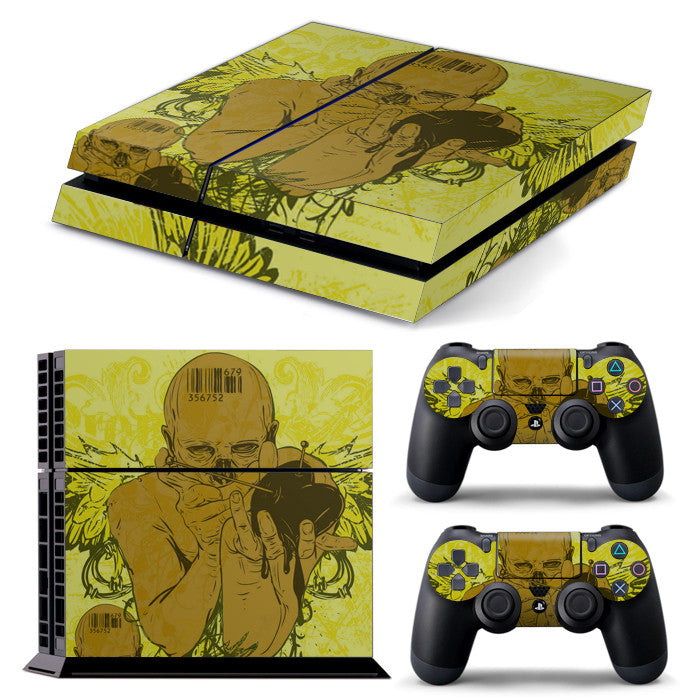 PS4 FULL BODY Accessory Wrap Sticker Skin Cover Decal for PS4 Playstation 4, ***DARK ANGEL***
