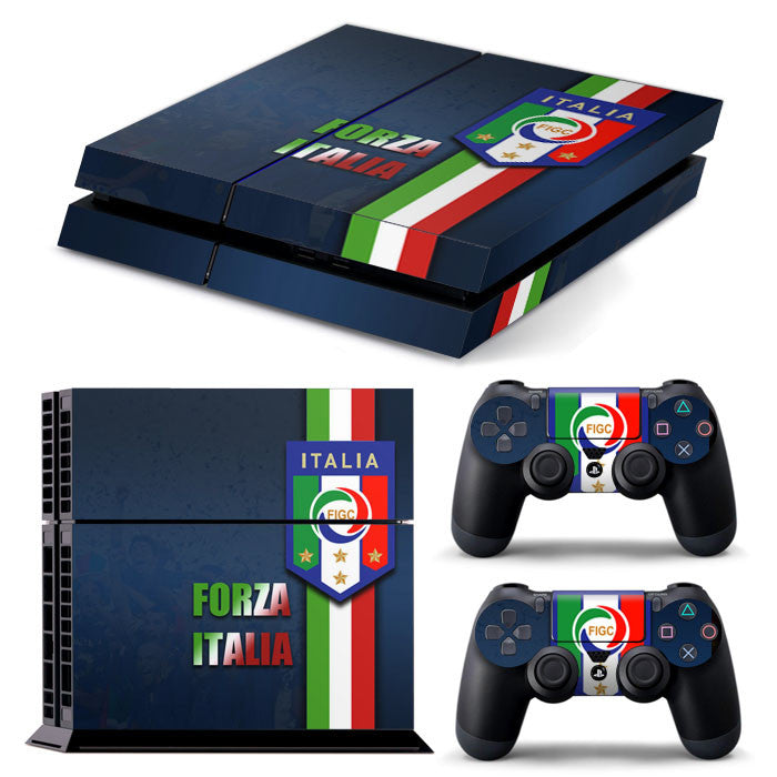 PS4 FULL BODY Accessory Wrap Sticker Skin Cover Decal for PS4 Playstation 4, ***Italia***