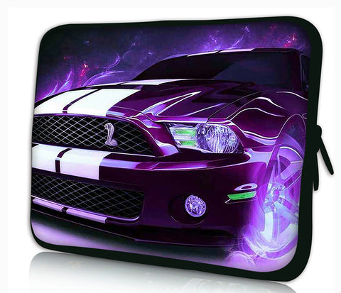 "13""- 13.3""inch Tablet Laptop Case Bag Pouch Protective Cover by Funky Planet Bags/Cases *Purple Car*"