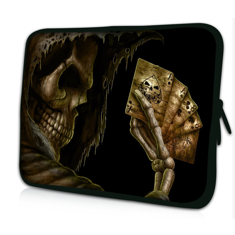 "17""- 17.3"" (inch) LAPTOP SLEEVE CARRY CASE/BAG NEOPRENE FOR LAPTOPS/NOTEBOOKS, ZIPPED *Reaper With Card*"