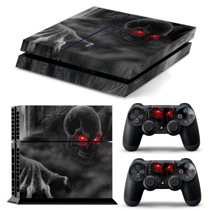 PS4 FULL BODY Accessory Wrap Sticker Skin Cover Decal for PS4 Playstation 4, ***Demon***