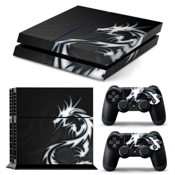 PS4 FULL BODY Accessory Wrap Sticker Skin Cover Decal for PS4 Playstation 4, ***Dragon Tribal***