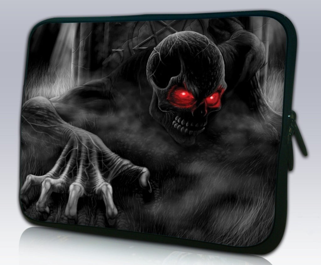 "15""- 15.6"" (inch) LAPTOP SLEEVE CARRY CASE/BAG NEOPRENE FOR LAPTOPS/NOTEBOOKS, ZIPPED*Demon*"