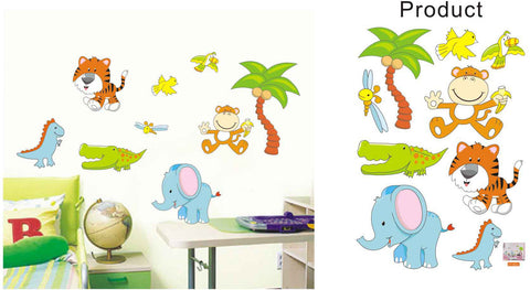 WALL STICKERS, BEDROOM WALL STICKERS, BEDROOM DECOR FOR BOYS & GIRLS ***JUNGLE***