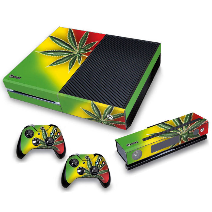Xbox One Skin/Stickers PVC for Xbox One Console, Kinect & 2 Pads *CANNABIS""