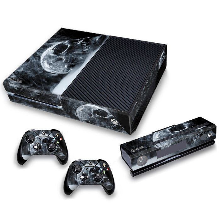 Xbox One Skin/Stickers PVC for Xbox One Console, Kinect & 2 Controllers***Burning Skull***