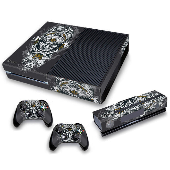 Xbox One Skin/Stickers PVC for Xbox One Console, Kinect & 2 Controllers***Head***
