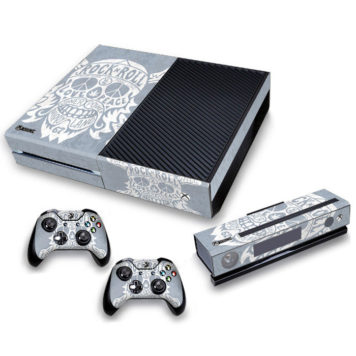 Xbox One Skin/Stickers PVC for Xbox One Console, Kinect & 2 Controllers***Rock&Roll***