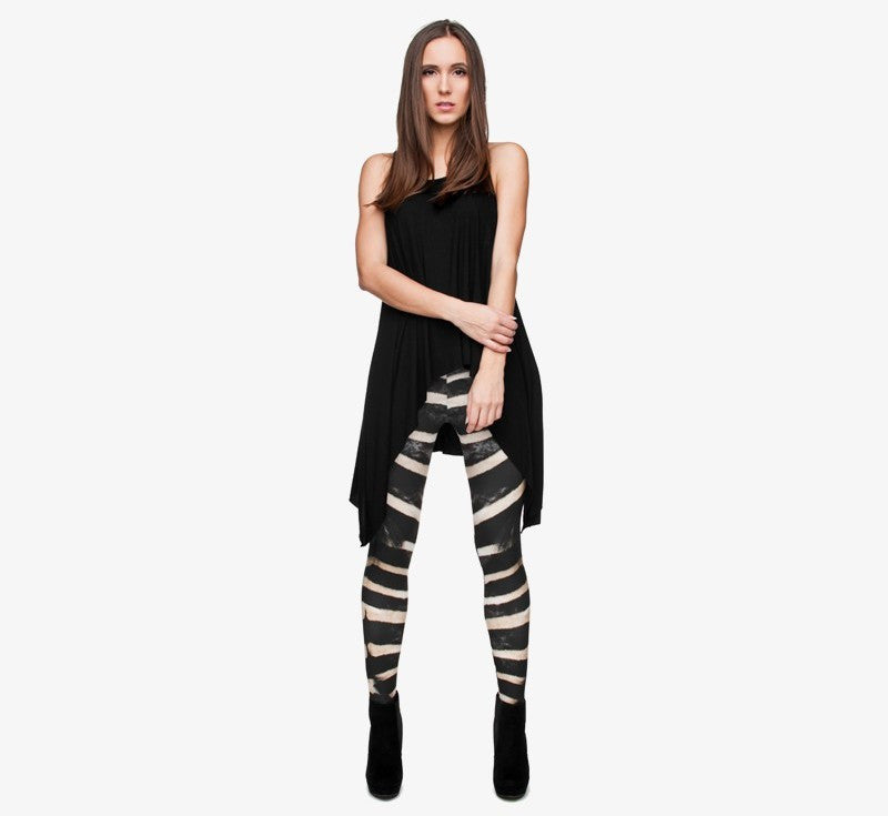 full length womens/girls full 3D print leggins ****zebra****