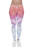 Full length womens/girls 3D full print leggings ****aztec red ombre****