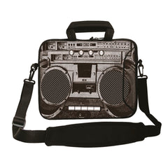 "15""- 15.6"" (inch) LAPTOP BAG CARRY CASE/BAG WITH HANDLE & STRAP NEOPRENE FOR LAPTOPS/NOTEBOOKS, *BOOMBOX*"