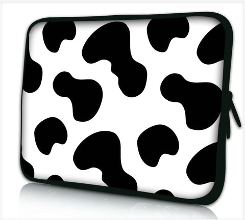 "15""- 15.6"" (inch) LAPTOP BAG CARRY CASE/BAG WITH HANDLE & STRAP NEOPRENE FOR LAPTOPS/NOTEBOOKS, *COW*"