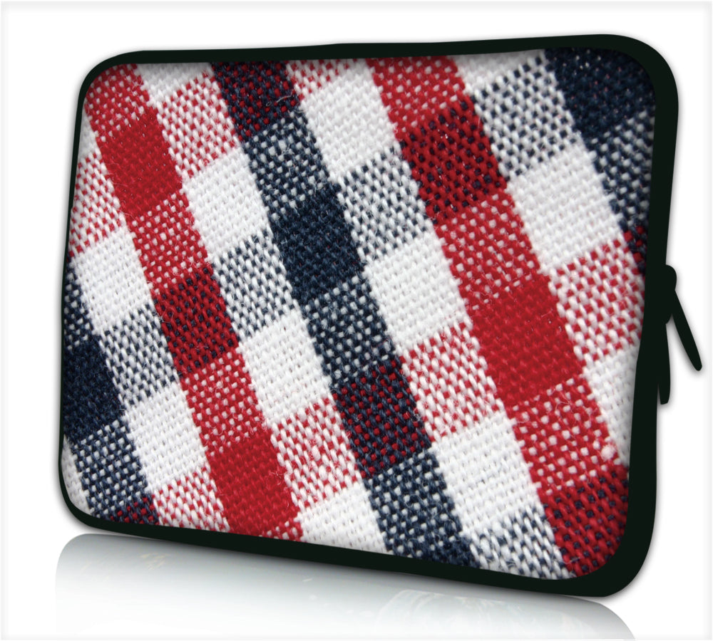 "15""- 15.6"" (inch) LAPTOP SLEEVE CARRY CASE/BAG NEOPRENE FOR LAPTOPS/NOTEBOOKS, ZIPPED *GRID*"