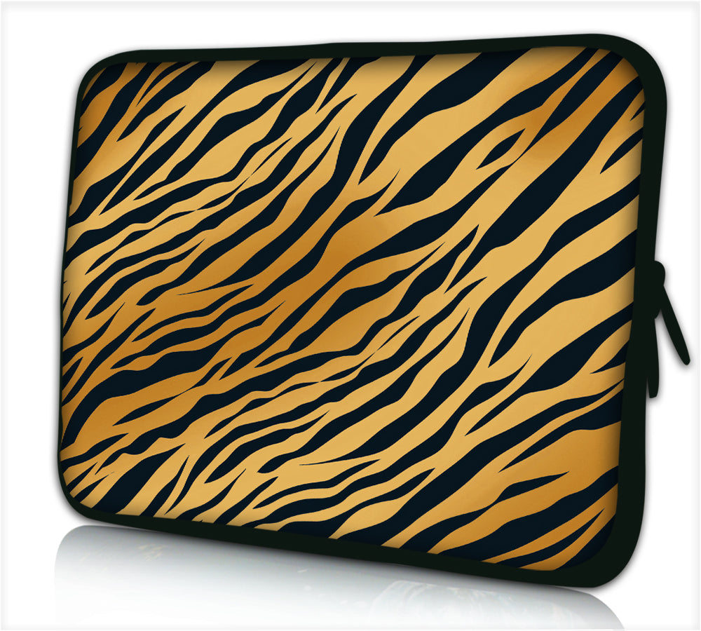 "17""- 17.3"" (inch) LAPTOP SLEEVE CARRY CASE/BAG NEOPRENE FOR LAPTOPS/NOTEBOOKS, ZIPPED*Panther stripes*"