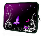 "10 ""inch Tablet Laptop Sleeve Protective Case by Funky Planet Bags/Cases *Purple Butterflies*"