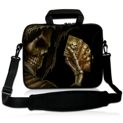 "15""- 15.6"" (inch) LAPTOP BAG CARRY CASE/BAG WITH HANDLE & STRAP NEOPRENE FOR LAPTOPS/NOTEBOOKS *REAPER WITH CARDS*"