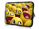 "10 ""inch Tablet Laptop Sleeve Protective Case by Funky Planet Bags/Cases *Smiley Faces*"