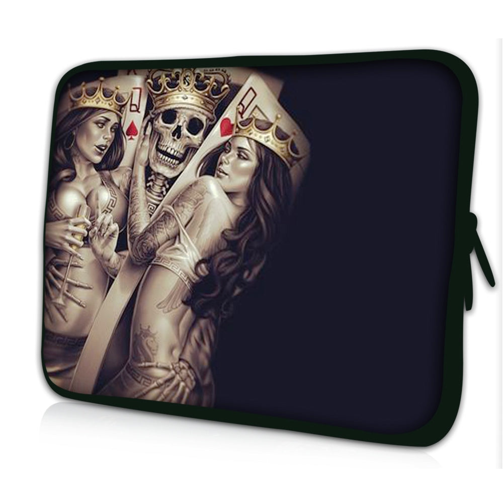 "15""- 15.6"" (inch) LAPTOP SLEEVE CARRY CASE/BAG NEOPRENE FOR LAPTOPS/NOTEBOOKS, ZIPPED *TWO QUEENS*"