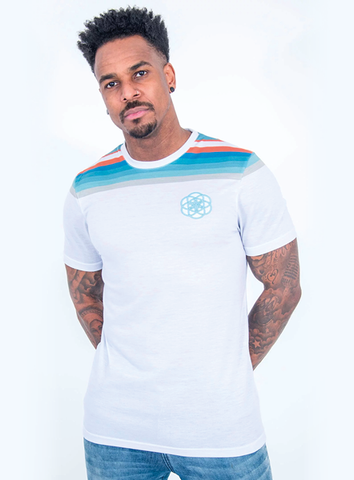 RETRO STRIPE TEE - WHITE