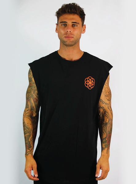 CORE SLEEVELESS TEE - BLACK