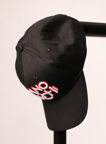 3D PUFFED LOGO CAP - BLACK/RED