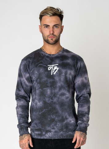 ELEMENT TIE DYE CREW - BLACK