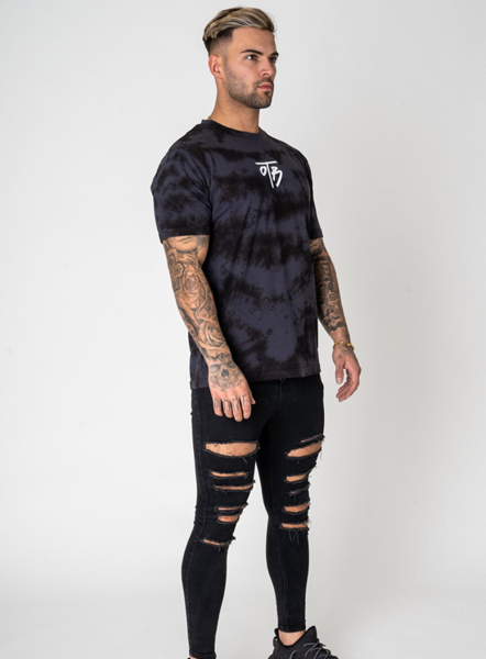 ELEMENT TIE DYE TEE - BLACK
