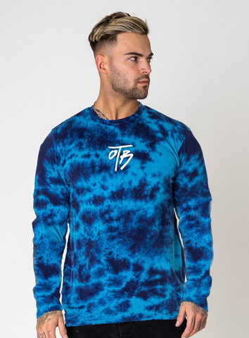 ELEMENT TIE DYE CREW - BLUE