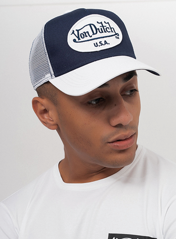 LOGO TRUCKER - NAVY/WHITE