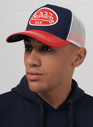LOGO TRUCKER - NAVY/RED