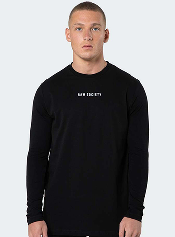 SIGNATURE LONG-SLEEVED TEE- BLACK