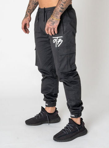 CARGO TROUSERS - DAMAGE GREY