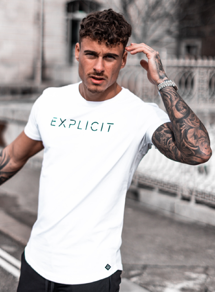 EXPLICIT DAYMER TEE - WHITE