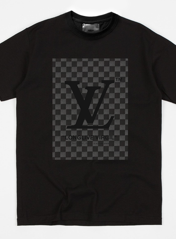 LV CHECKED PRINT - GREY