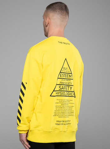 MASLOW HIERARCHY - SWEATSHIRT - YELLOW