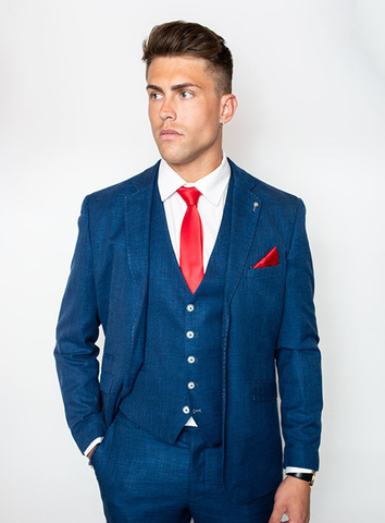 MIAMI THREE PIECE SUIT - BLUE