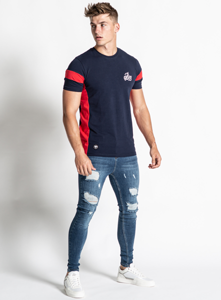 Parlour Tee - Navy/Red