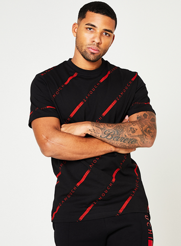 LONDON READY TEE - BLACK/RED
