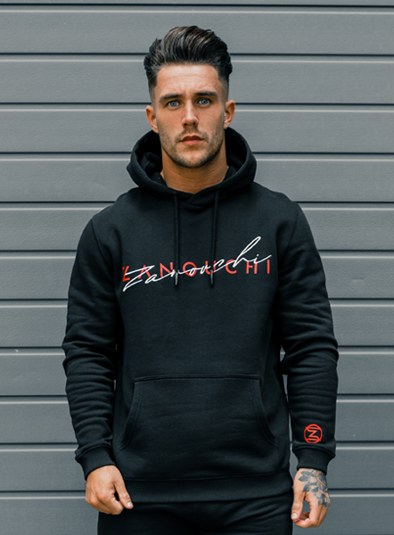 SIGNATURE HOODIE - BLACK/RED