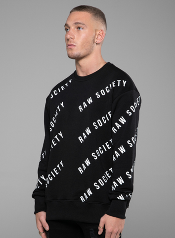 REPEAT SWEATSHIRT - BLACK