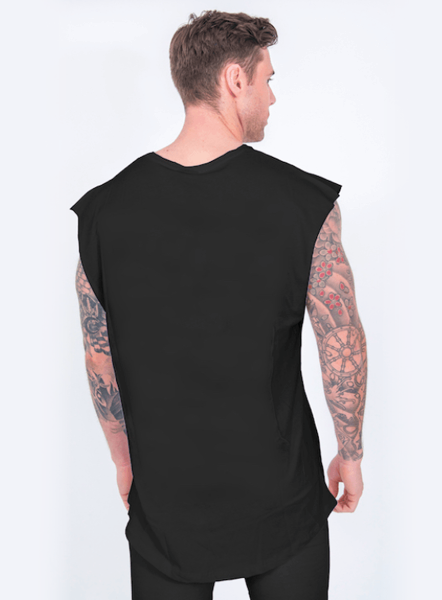 STATEMENT SLEEVELESS T - BLACK