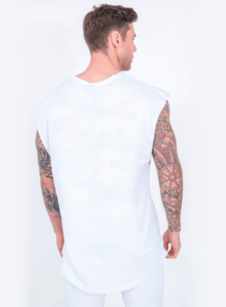 STATEMENT SLEEVELESS T - WHITE