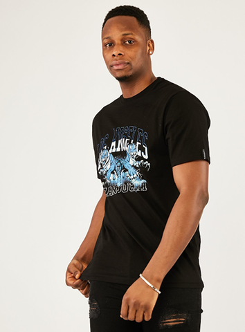 LOS ANGELES TIGER TEE - BLACK/BLUE