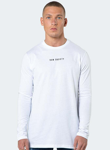 SIGNATURE LONG-SLEEVED T-SHIRT - WHITE