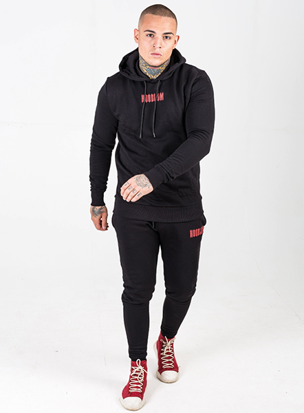 CORE JOGGER - BLACK/RED