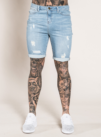 MARQUEE DENIM SHORTS - LIGHT WASH