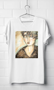 Portrait in pjs - White Organic T-shirt
